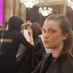 INGLOT plays with colour on models at LFW